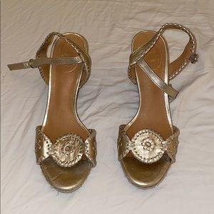 Jack Rogers golden high heels!!